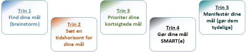 Målsætning . 5 trins model